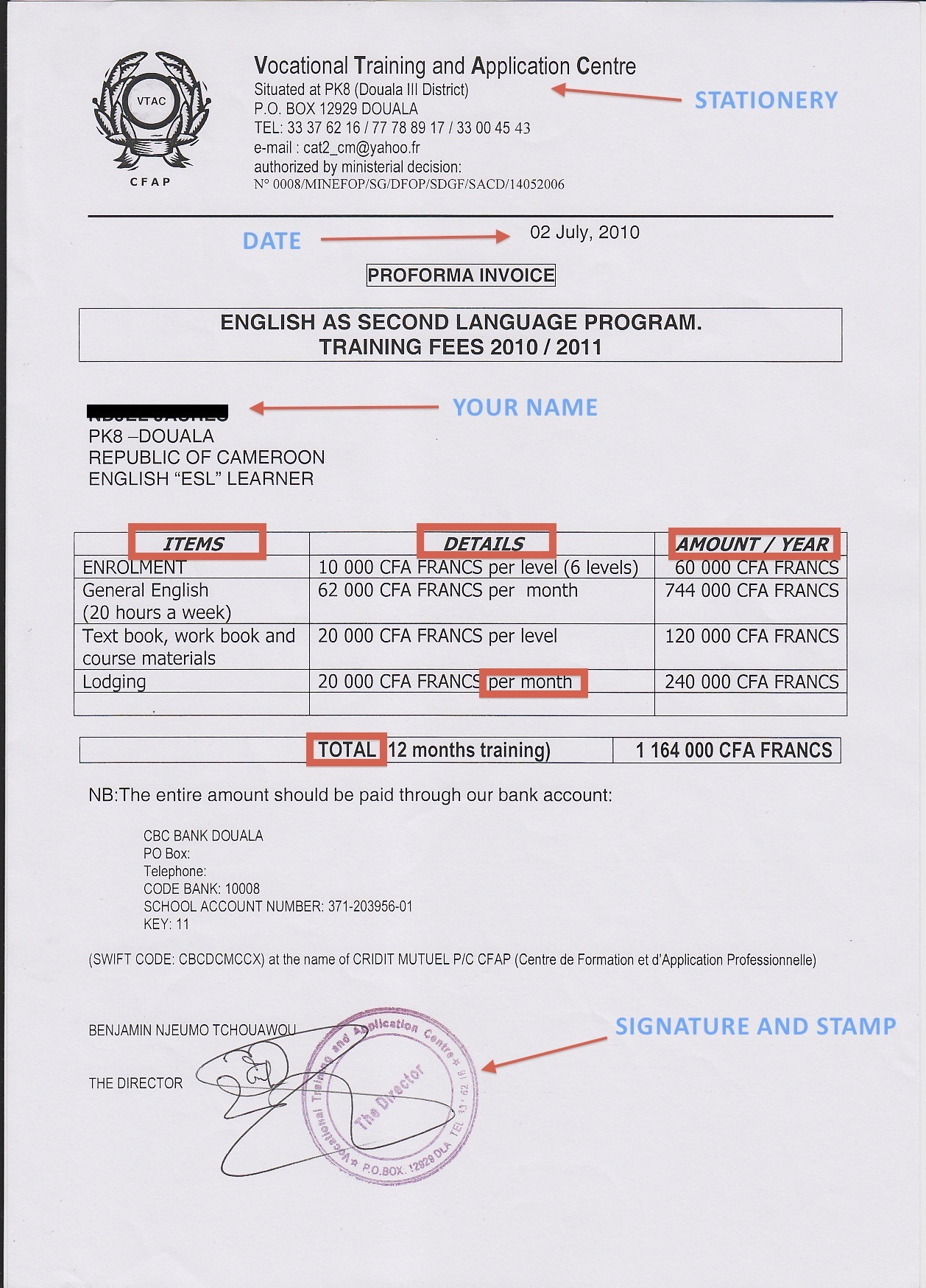 sample billing invoice - Example Of Invoice
