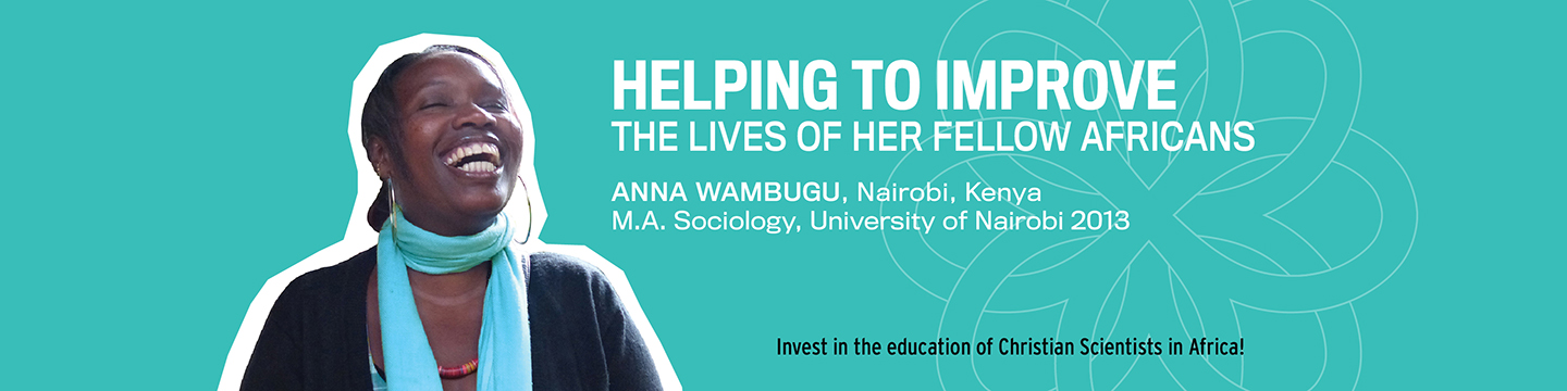 Helping to improve the lives of her fellow Africans